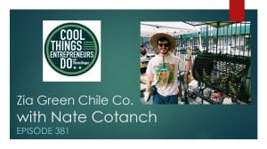 Nate Cotanch Zia Green Chile Co